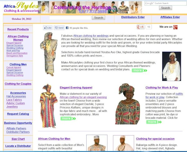 Africastyles E-Commerce