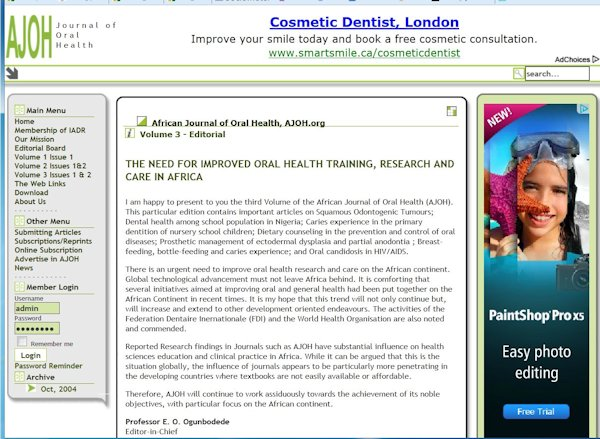 Journal of Oral Health
